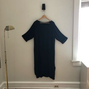 Anthropologie long black rayon dress